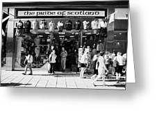 Pride Of Scotland Scottish Gifts Shop Princes Street Edinburgh Scotland Uk United Kingdom Greeting Card by Joe Fox