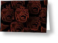 Primal Screams Greeting Card by David Dehner