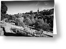 Princes Street Gardens Edinburgh Scotland Uk United Kingdom Greeting Card by Joe Fox