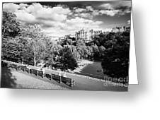 princes street gardens in edinburgh city centre scotland uk united kingdom Greeting Card by Joe Fox