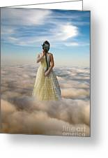 Princess In Gas Mask 3 Greeting Card by Jill Battaglia