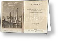 Principles Of Geology (1830) Greeting Card by King's College London