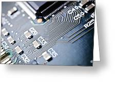 Printed Circuit Board Components Greeting Card by Arno Massee