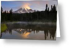Pristine Reflections Greeting Card by Mike  Dawson