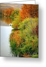 Prosser Autumn Docks Greeting Card by Carol Groenen