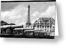 Protecting Paris Greeting Card by Don Wolf
