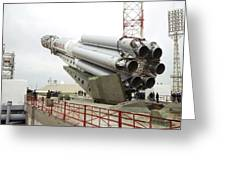 Proton-m Rocket Before Launch Greeting Card by Ria Novosti