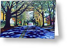 Providence Road Greeting Card by Jerry Kirk