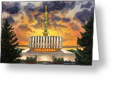 Provo Temple Evening Greeting Card by Jeff Brimley