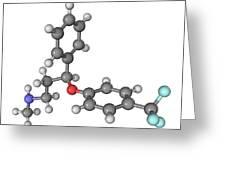Prozac Antidepressant Molecule Greeting Card by Laguna Design