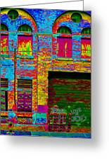 Psychadelic Architecture Greeting Card by Andrew Fare