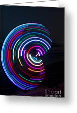 Psychedelic Hula Hoop Greeting Card by Ilan Rosen