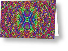Psychedelic Kaleidoscope Greeting Card by Gina Lee Manley
