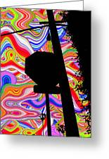 Psychedelic Sky Greeting Card by Phill Petrovic