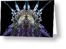 Psychedelic Spines Greeting Card by David Kleinsasser