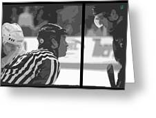 Puck Drop Greeting Card by Lucas Armstrong
