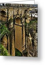 Puente Nuevo - Ronda Greeting Card by Juergen Weiss