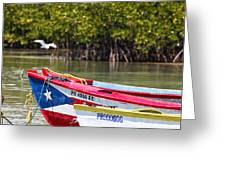 Puerto Rican Fishing Boats Greeting Card by George Oze