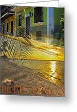 Puerto Rico Collage 3 Greeting Card by Stephen Anderson