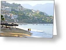 Puerto Vallarta Beach Greeting Card by Elena Elisseeva