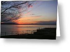 Puget Sound Sunset Greeting Card by Edward Coumou