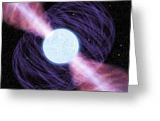Pulsar Greeting Card by Chris Butler