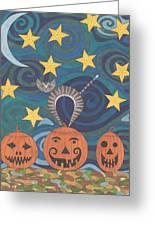 Pumpkin Perch Greeting Card by Pamela Schiermeyer