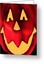 Pumpkin Smile Greeting Card by Debra     Vatalaro