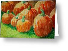 Punkins Greeting Card by Jame Hayes