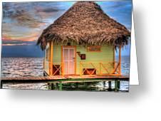Punta Caracol Greeting Card by Dolly Sanchez