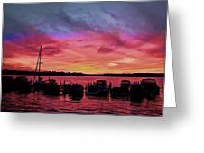 Punta Gorda Sunset Greeting Card by Sandy Poore