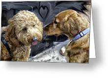Puppy Love Greeting Card by Madeline Ellis