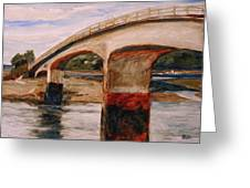 Purdy Bridge At Low Tide Greeting Card by Mary McInnis