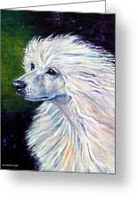 Pure Poetry - Chinese Crested Greeting Card by Lyn Cook