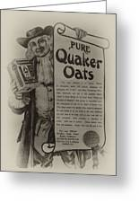 Pure Quaker Oates Greeting Card by Bill Cannon