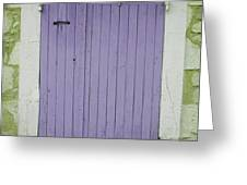 Purple Door Number 46 Greeting Card by Nomad Art And  Design
