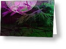 Purple Moon Greeting Card by Ann Powell