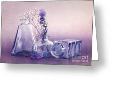 Purple Vases Greeting Card by Viaina