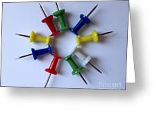 Push Pins Greeting Card by Cheryl Young