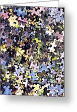 Puzzle Piece Abstract Greeting Card by Steve Ohlsen