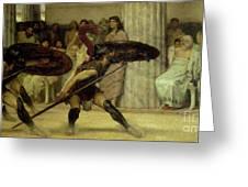 Pyrrhic Dance Greeting Card by Sir Lawrence Alma-Tadema