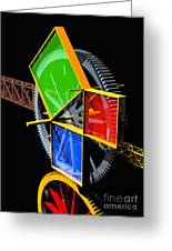 Pythagorean Machine Portrait 2 Greeting Card by Russell Kightley