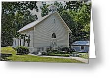 Quaker Church Pencil Greeting Card by Scott Hervieux