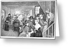 Quaker Meeting, 1888 Greeting Card by Granger