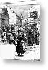 Quaker Preaching, 1657 Greeting Card by Granger