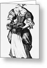 Quaker Woman, 17th Century Greeting Card by Granger