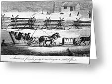 Quakers Going To Meeting Greeting Card by Granger