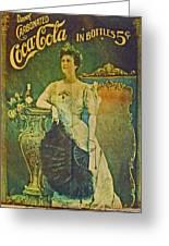 Queen Drinks Coca Coala Greeting Card by Cyryn Fyrcyd