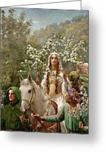 Queen Guinevere Greeting Card by John Collier