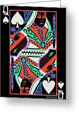 Queen Of Spades Greeting Card by Wingsdomain Art and Photography